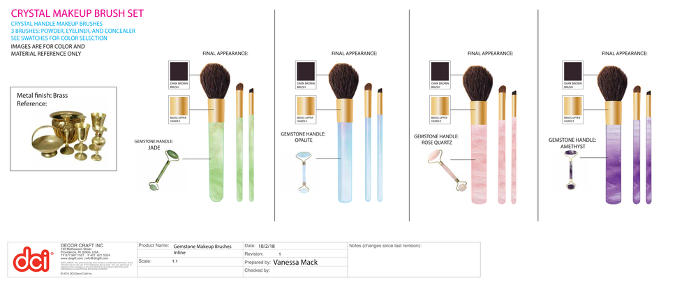 Product Specs: Makeup Brushes