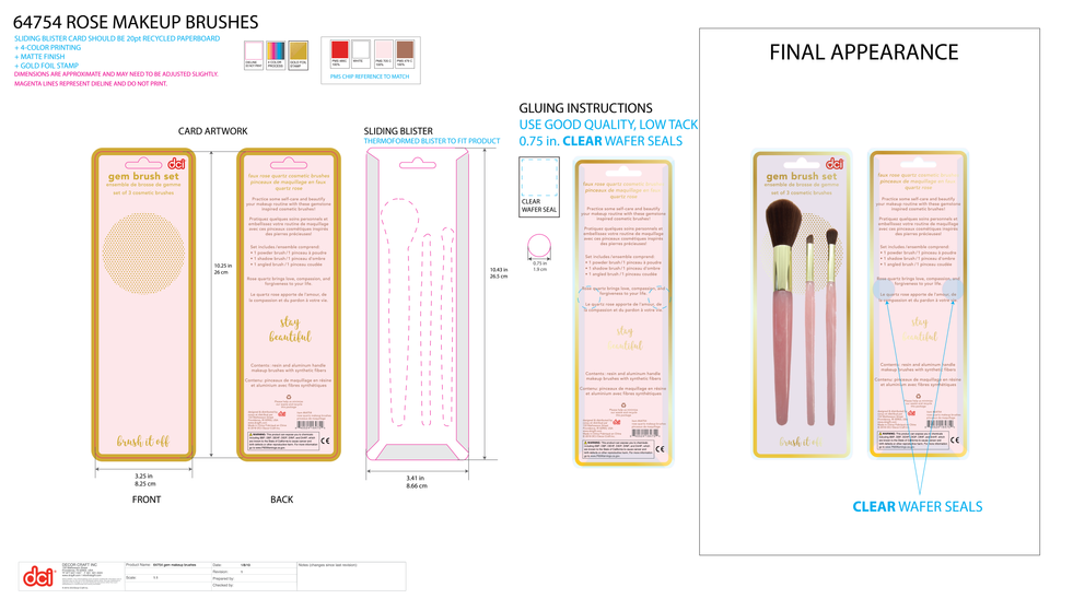 Package Specs: Makeup Brushes