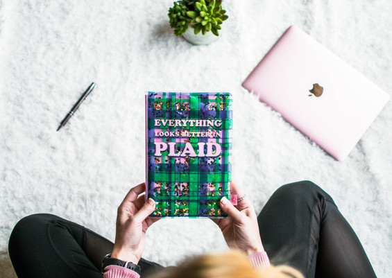 Plaid Glitter Journal: Lifestyle