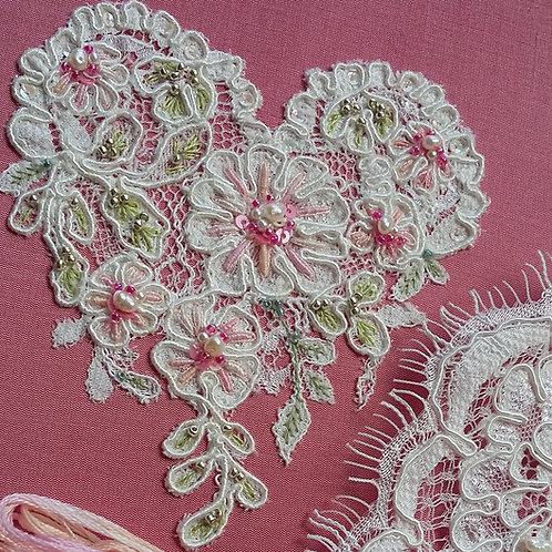Embroidered Lace Heart