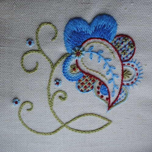 Crewelwork Forget-Me-Not