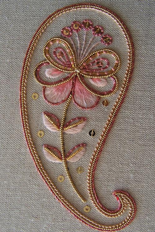 Decorative Goldwork Paisley Embroidery Kit