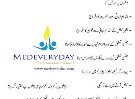 Cervical Cancer Symptoms in Urdu رحم کے نچلے حصے یا بچہ دانی کی گردن کے سرطان کی علامات، عنقی سرطان