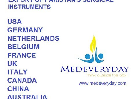 List of top 11 potential markets for export of Pakistani surgical instruments