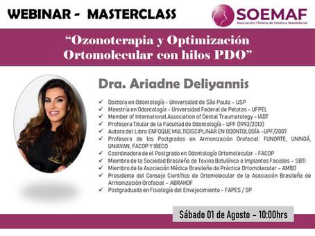 """WEBINAR 01/08/2020: """"Ozonoterapia y Optimización Ortomolecular con hilos PDO"""""""