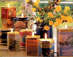 Tea Tin Candels