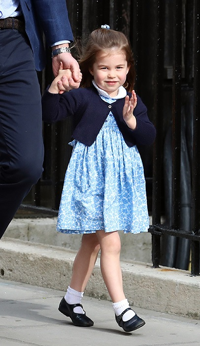 Princess Charlotte Waves At The Crowd