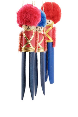 Clothespin Soldier Ornaments