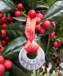 Personalized Ornament Made From Washers
