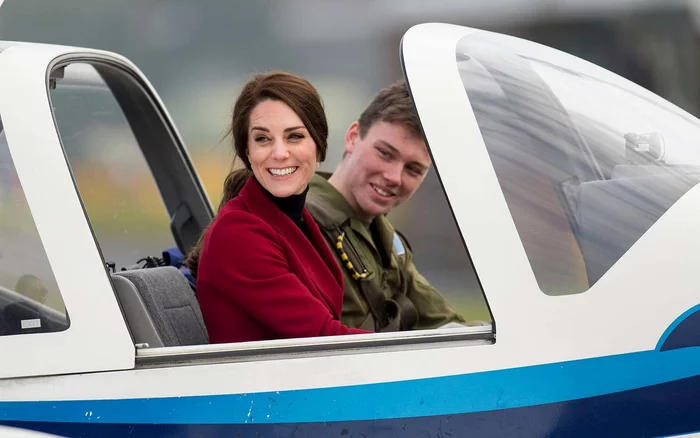 Duchess of Cambridge Learning To Fly A Plane