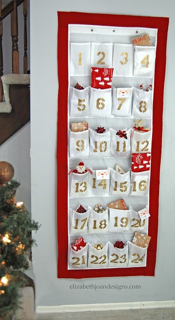 Shoe Organizer Advent Calander