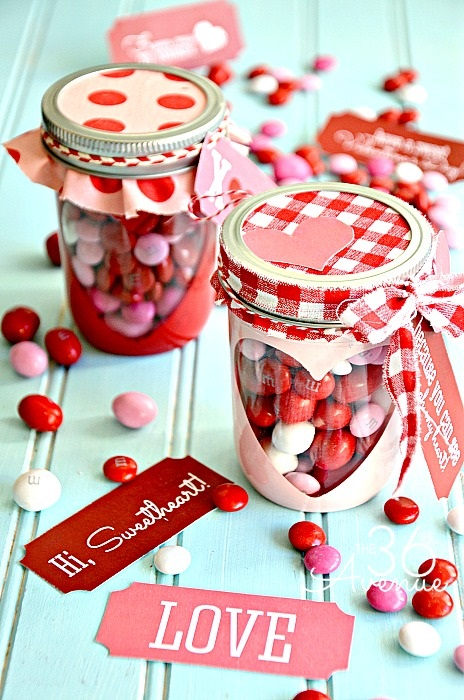 Mason Jars Valentine Treats