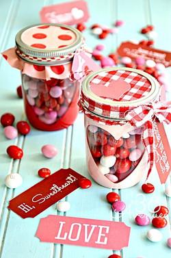 Mason Jars Valentine Treats