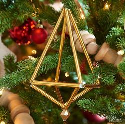 Golden Geometric Ornament