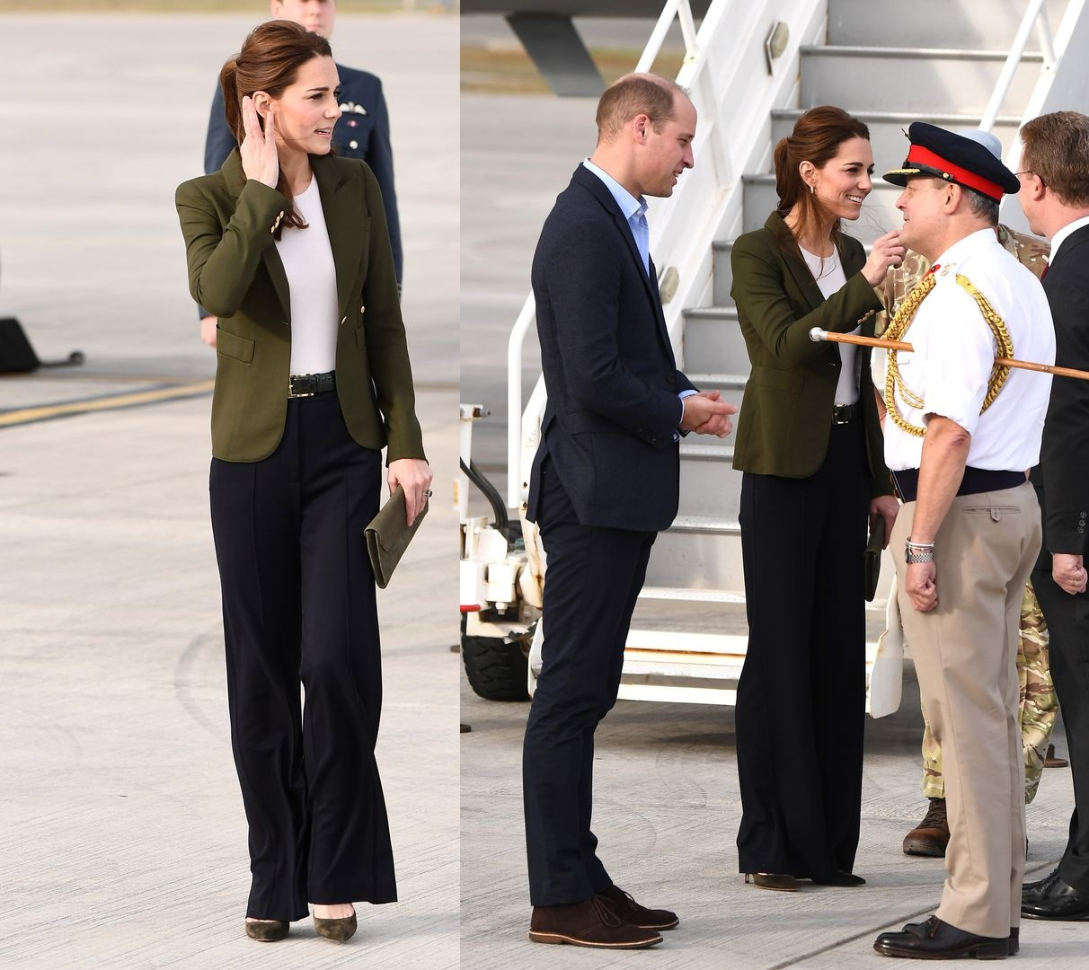 Duke and Duchess of Cambridge Land in Cy