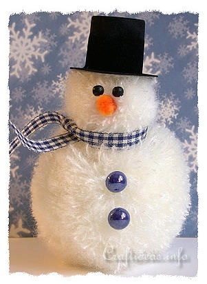 Fuzzy Yarn Snowman