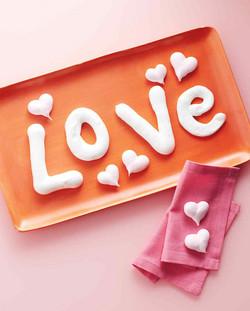 Valentine's Day Meringue Letters
