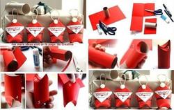 Paper Roll Santa Pockets