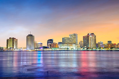 Downtown New Orleans, Louisiana and the