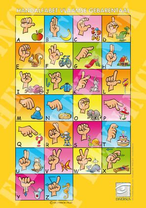 Vlaamse alfabet kids (affiche)