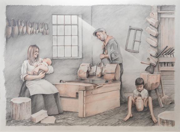 Klompenmaker Tim Van Goethem