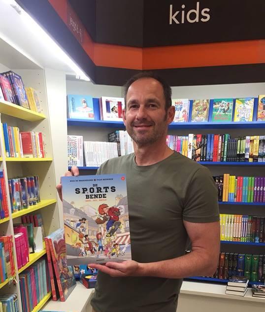 Eerste strip in boekhandel Standaard te Sint-Niklaas in 2018