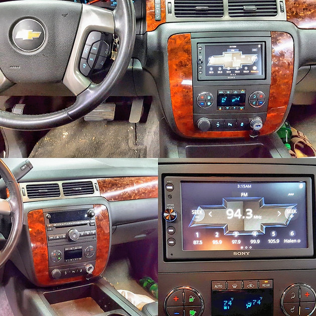 Sony Le Car Play Radio Install 2017 Chevy Tahoe Looks Great In The Dash