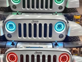 Jeep wrangled led headlight convention.