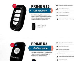 Its will be cold in no time!  new 1/2 mile range  2-way Compustar models are available!  Call for a