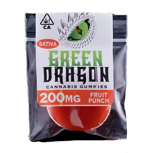 Green Dragon 200mg Sativa Gummy - 4 for $50