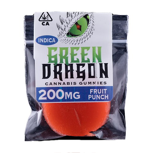 Green Dragon 200mg Indica Gummy - 4 for $50