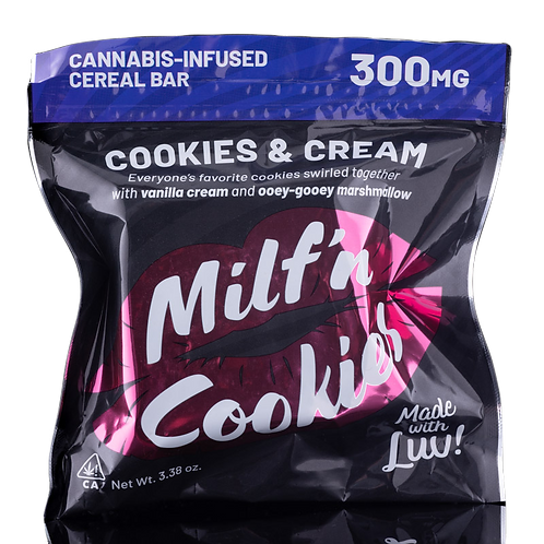Cookies And Cream Cereal Bar (300MG THC) - Milf N Cookies