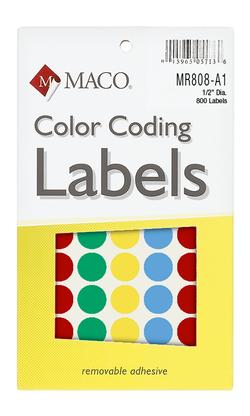 Circular Color Coding Labels