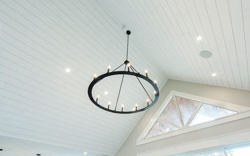 Shiplap Vaulted Ceiling