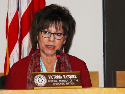 Vazquez announces bid to seek third term on Cherokee Tribal Council