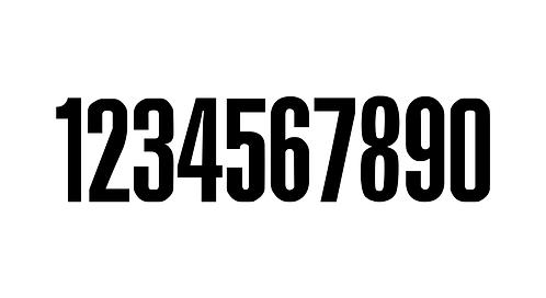 "Number stickers - ""Official"" font"