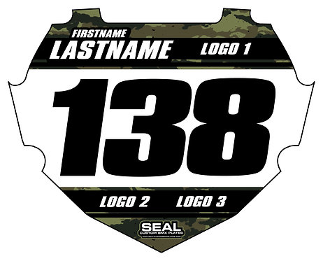 Army Camo / Black (Decal Only) - Box Components