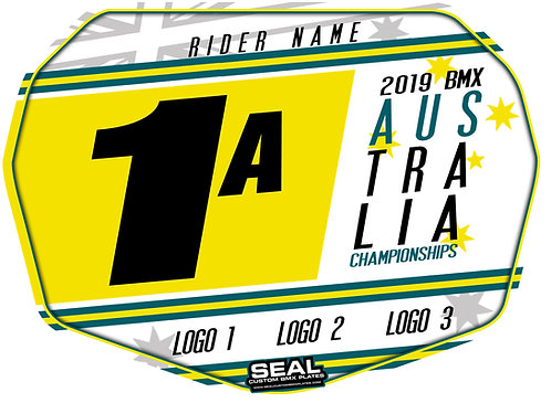 2019 Australian Titles Design White - Seal Standard Custom Plate