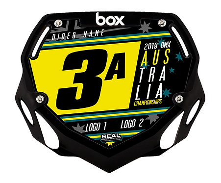 2019 Australian Titles Design Black (Plate and Decal) - Box Components