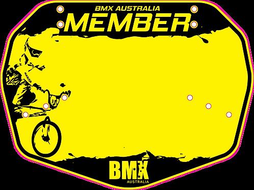 BMX Australia Member plate