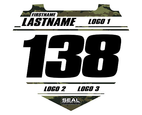 Army Camo / White (Decal Only) - Box Components