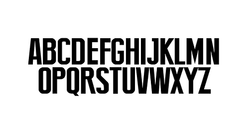 "Letter stickers - ""Official"" font"