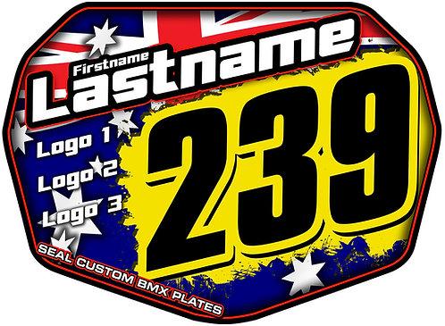 Australia Flag - Seal Standard Custom Plate
