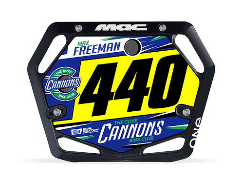 Cove Cannons (Plate and Decal) - MAC Components