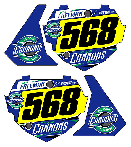 Cove Cannons - Box Components Bike Stand Decals Only
