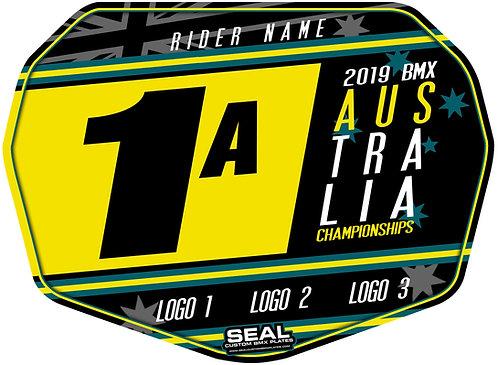 2019 Australian Titles Design Black - Seal Standard Custom Plate