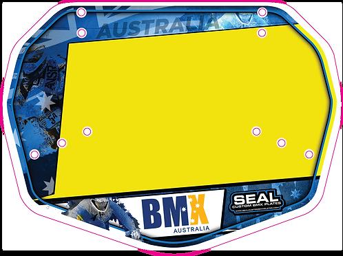 BMX Australia Blue Ready 2 Race plate