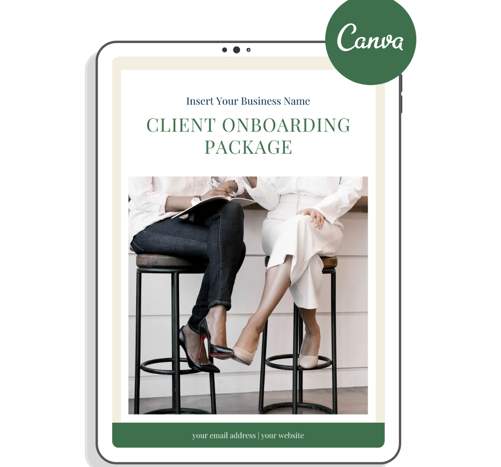 canva client onboarding package