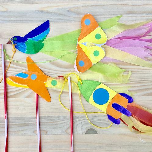 Les mini cerf-volants