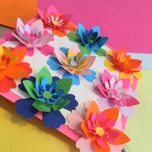 duo fleurs en papier